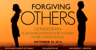 Image result for picture of conditional forgiveness