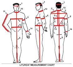 Measurement Diagram And Instructions Liturgix Eastern