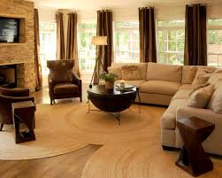 extraordinary fur area rug at home cozy contemporary living room with natural stone fireplace and