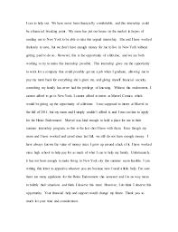 kelly mullady heinz endowment internship personal essay  and work when 3