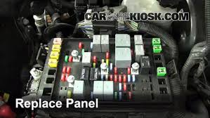 replace a fuse 2002 2009 chevrolet trailblazer 2006 chevrolet 6 replace cover secure the cover and test component