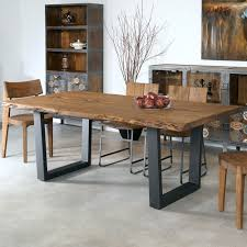 metal and wood dining table. Sensational Wood And Metal Dining Table Furniture Iron Home Decor Sequoia U0026 In Light Brown Kawgyrj Black Diy