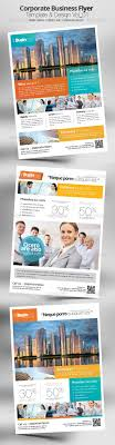 business flyer design fonts illustrators and words corporate business flyer template design vol 01