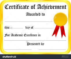 Award Of Excellence Certificate Template Certificate Of Achievement Template Oninstall 64