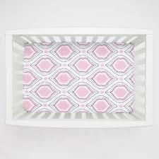 ideal pink and navy moroccan damask mini crib sheet pink and navy crib bedding