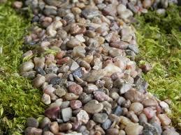 fairy garden pebbles stones pathway