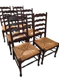 english styled ladder back side chairs set of 6 on chairish
