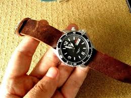 how i make leather watch strap diy