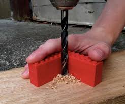 introduction how to drill straight holes with a hand drill using lego