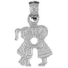 sterling silver 925 boy and girl kissing pendant sterling silver pendants at jewelsobsession com