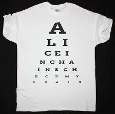 Alice In Chains Eye Chart Check My Brain Mens White T Shirt Seattle Grunge Ebay