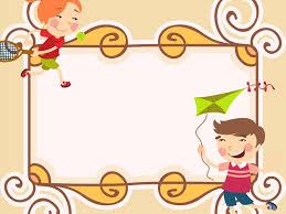 Sweet Cartoon Photo Frame Powerpoint Templates Border