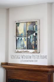 diy vintage window poster frame via littleredwindow com