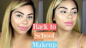 quick easy back to makeup tutorial 2016