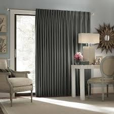 eclipse thermal blackout patio door curtain panel charcoal