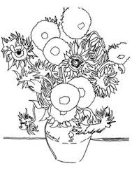 Small Picture Sunflowers By Vincent Van Gogh coloring page van Gogh Vincent