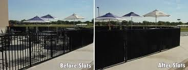 wrought iron privacy fence. Plain Wrought And Wrought Iron Fence Aluminum Fence Privacy Slats Before After Intended Privacy Fence R