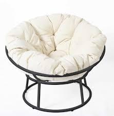 ideas of black wrought iron frame papasan chair tar with white cushions creative papasan style chair