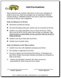 need a set of field trip guidelines feel to modify for your field trips