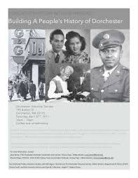open archives news university archives special collections in saturday 22 building a people s history of dorchester