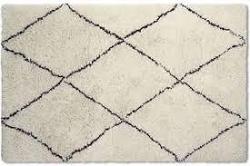 black and cream rug. Image Is Loading BENNI-BEN01-MOROCCON-BERBER-Cream-Black-Plantation-Thick- Black And Cream Rug