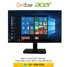 acer 27 inch et271 monitor 1920x1080 4ms 60hz can wall mount