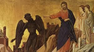 Image result for temptation in the desert Christ in the Gospel