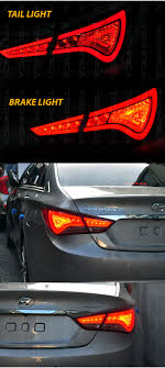 2012 Hyundai Sonata Rear Brake Light Details About Genuine Led Rear Tail Light Lamp For Hyundai 2011 2012 2013 2014 Yf Sonata I45