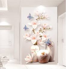 Custom Hd Photo 3d Behang Bloem Muurschilderingen Bloemen Hal 3d
