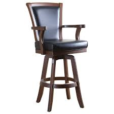 30 inch bar stools with back. Bar Stools:Wooden Stool With Leather Back And Medium Arms Upholstered Stools Backs Decofurnish 30 Inch 1