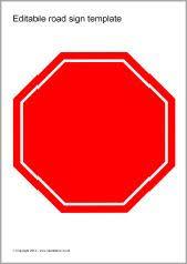 Editable Road Sign Templates Sb8448 Sparklebox Sign