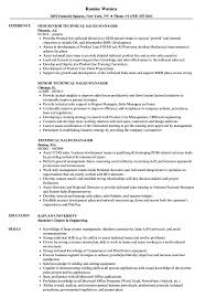Resume For Sales Manager Technical Sales Manager Resume Samples Velvet Jobs 14