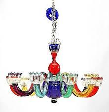 italian 1950s multi colored murano glass chandelier attrib to gio ponti