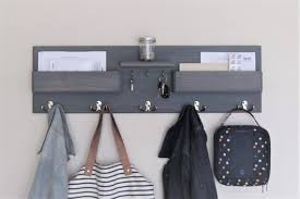 Kids Coat Rack With Storage Delectable Entryway Organizer Kids Coat Rack With Mail Storage Key Rack Etsy