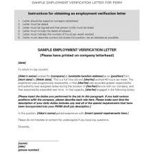 Sample Of Letter Of Employment Verification Employment Verification Letter Sample For Immigration Best New