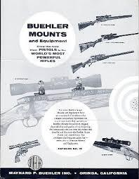 Buehler Scope Mount Chart Scope Mount Catalogs Vintage Gun Catalogs