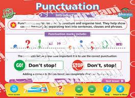 Punctuation English Educational Software