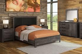Driftwood Bedroom Furniture Driftwood 5 Piece Queen Bedroom Set Rustic Brown Leons
