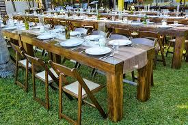 rustic long table