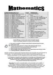Semester Grade Chart Palm Beach County Mathematics Course Listing