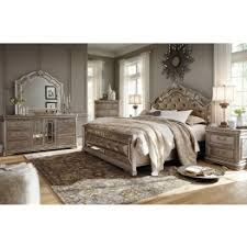 Birlanny Silver Upholstered Panel Bedroom Set from Ashley Coleman
