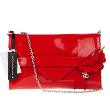 add to my lists roberta gandolfi italian made red patent leather evening bag clutch