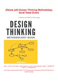 Design Thinking Process Pdf Ebook Pdf Design Thinking Methodology Book Read Online