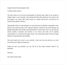 college admissions letter of recommendation sample sample recommendation letter for college admission from teacher