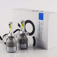 Bộ 2 đèn pha led 3 chân C6 H4-headlight 36w siêu sáng gắn xe máy (Chân H4)
