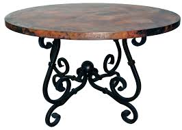 prima french dining table with 60 inch round copper top