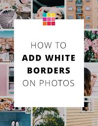 how to add white borders on instagram photos using preview app