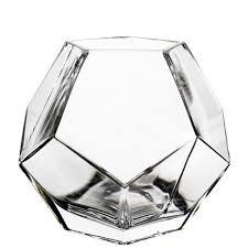 h 6 geometric faceted gem glass terrarium vases