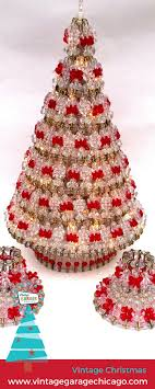 Beaded Safety Pin Designs Vintage Beaded Christmas Tree Made From Safety Pins And