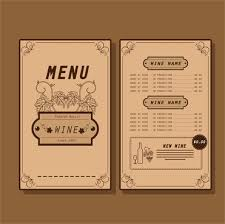 pages menu template wine menu template free vector download 14 933 free vector for